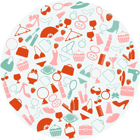 fashion jewelry: Woman things Illustration