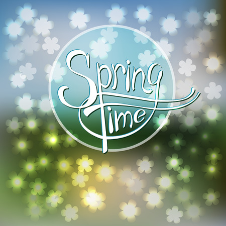 springtime: Springtime blurred vector background with flowers