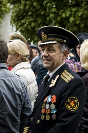 pyatigorsk: Veteran of the Second World War on Victory parade in Pyatigorsk, Russia, on   May 9 2009