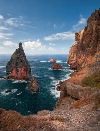 rocky coastline: Madeira island, Portugal, Europe, sunset, rocky coastline