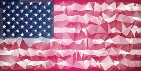 mosaic usa flag background low poly style royalty free cliparts