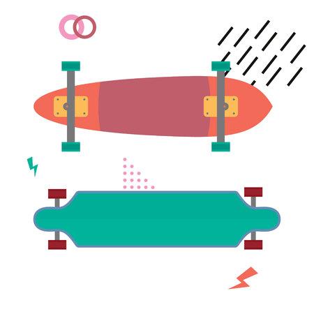 Skateboard desk flat design. Skateboarding concept. Equipment