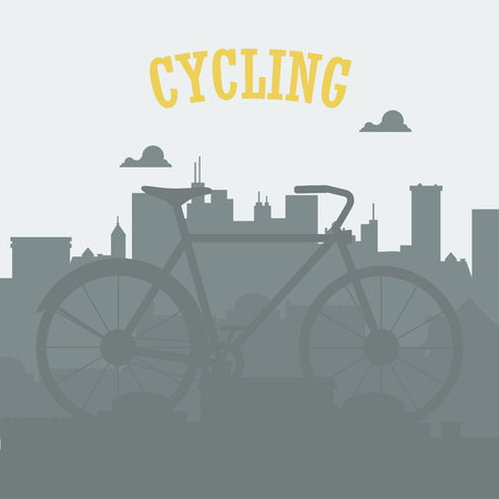 Bicycle concept. Bicycle in the city. Urban cycling