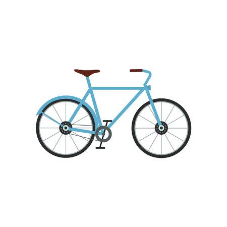 City bicycle vector illustration. Sport activity. Urban bicycle flat Ilustração