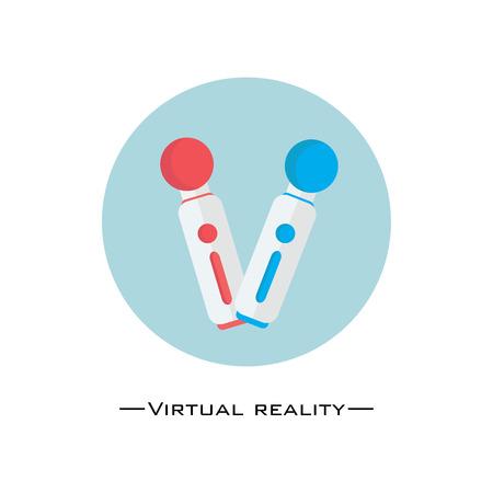 Virtual reality controller flat design.