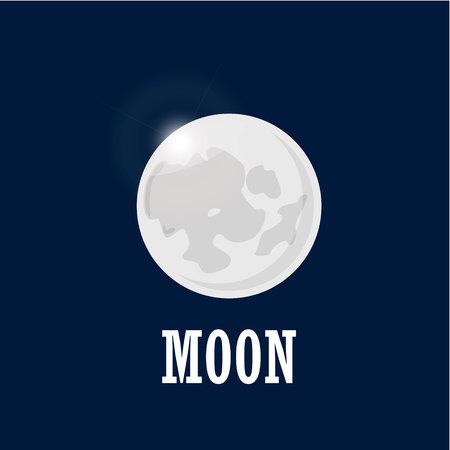 Bright moon on the night sky.