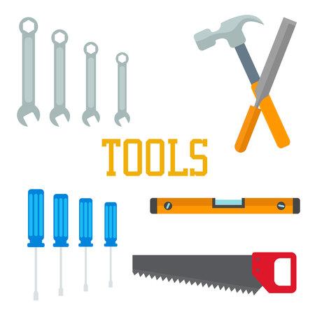 Flat tools for repair. Ilustração