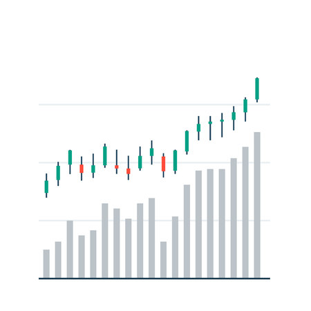Market trading graph. Business stocking background investment strategy