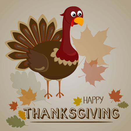 Thanksgiving turkey background. Happy thanksgiving concept on autumn background