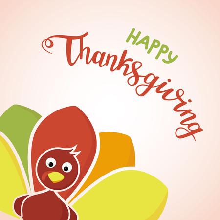 Happy thanksgiving day concept. Ilustração