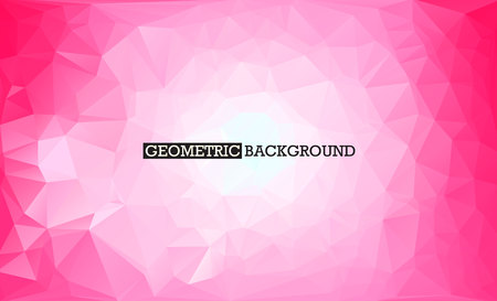 Pink geometric background. Low poly abstract vector background Ilustração