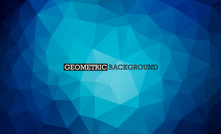 Blue background low poly style. Triangle mosaic vector Banco de Imagens