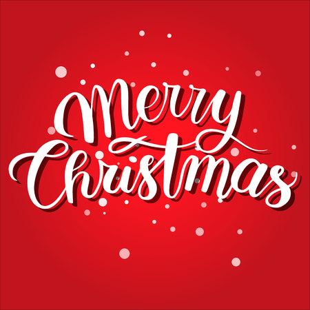 Mery christmas postcard. Red holiday background xmas Banco de Imagens