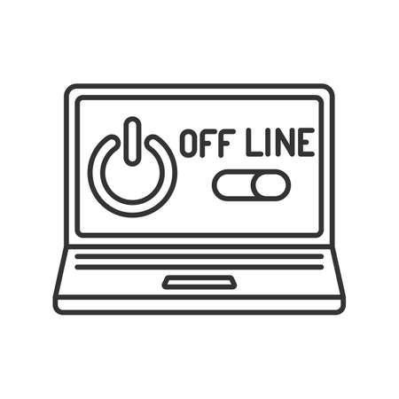 line icon, off line computer Иллюстрация