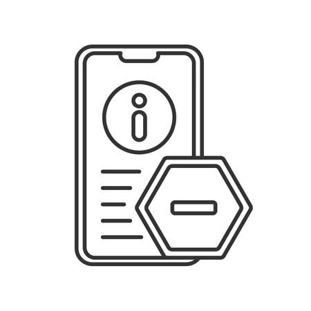 line icon, detox from information