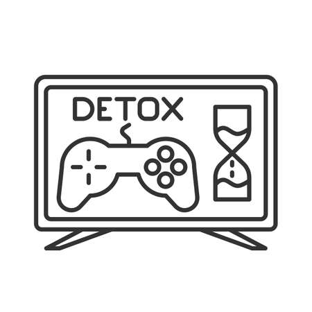 line icon, detox from computer games Иллюстрация