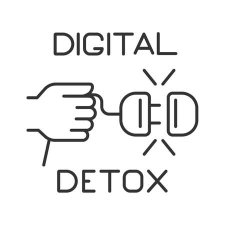 line icon, digital detox, turning off electrical appliances