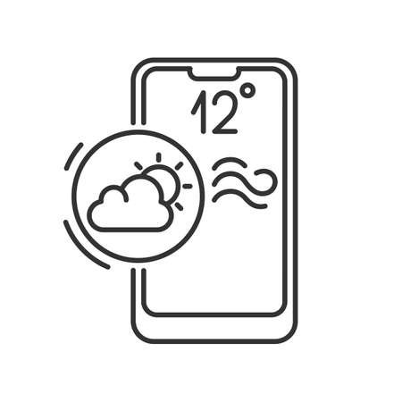 mobile application icon, forecaster, weather forecast
