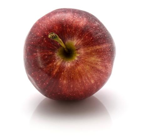 白い背景に分離された茎 1 つ全体ガラアップル