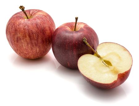りんごガラ, 全体を 2 つと 1 つの半分に分離白背景