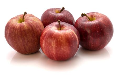 白い背景に分離された 4 りんごガラ