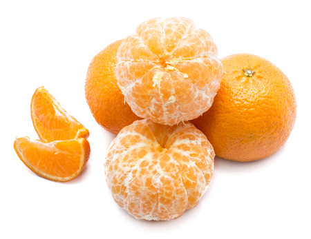 Clementines isolated on white backgrounds