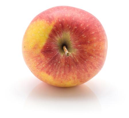 白い背景に分離された 1 つのリンゴ (Evelina 品種)