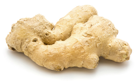 One whole ginger root isolated on white background Banque d'images - 92664969