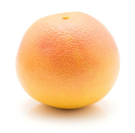 One red grapefruit isolated on white background  Stock Photo