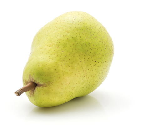 Green pear isolated on white background