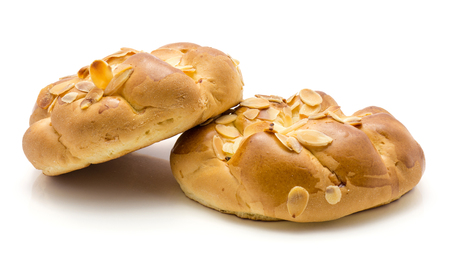 Two braided bread isolated on white background Stockfoto