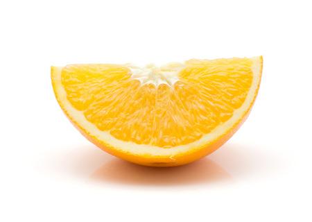 One orange quarter isolated on white background Stock Photo