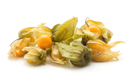 Physalis isolated on white background berries stack
