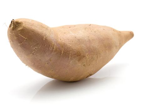 One sweet potato isolated on white background  Stok Fotoğraf