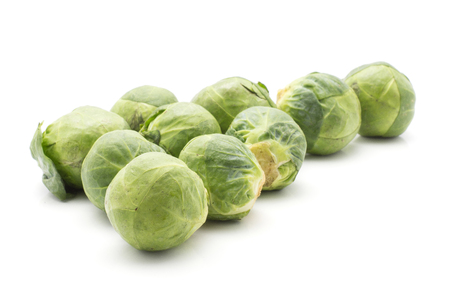 Brussels sprout isolated on white background fresh set  Stock Photo