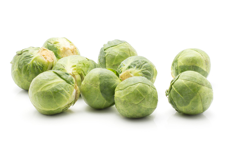 Fresh Brussel sprout isolated on white background raw  Stock Photo