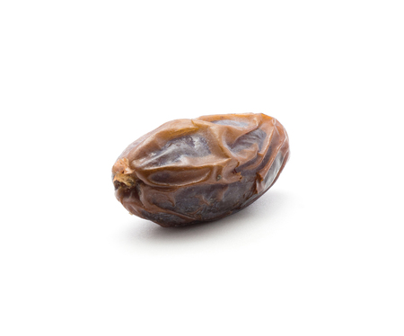 One date fruit Medjool isolated on white background
