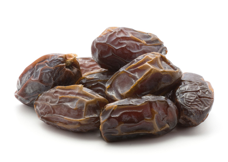 Date fruit Medjool heap isolated on white background