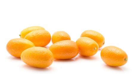 Kumquat set isolated on white background