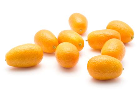 Kumquat stack isolated on white background