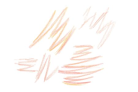 Several drawing scratches isolated on white background