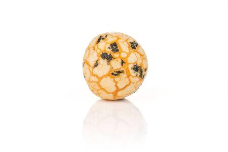 One whole orange rice japan assortment isolated on white background