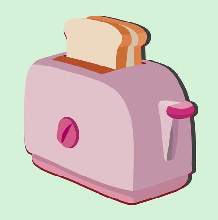 comfort food: toaster Illustration