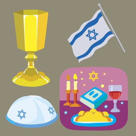 kiddush: the Jewish Sabbath Illustration