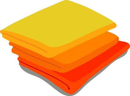 calendula: web icon orange towels. Vector Illustration of a cartoon Linen icon isolated on white background Illustration
