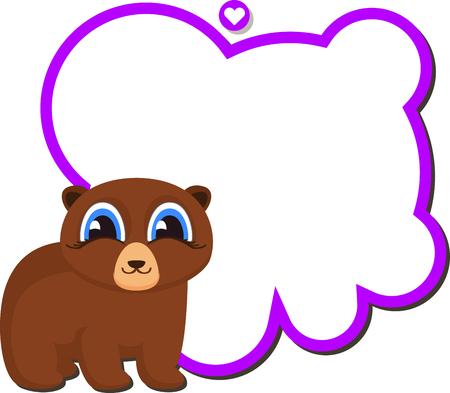 Bear Teacher with School Board. Cartoon style isolated on white background Illustration