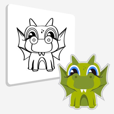 Dragones Y Estrellas De Dibujos Animados, Fondo Transparente Para Un ...