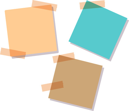 posit: Illustration of a colored set of sticky notes. Illustration of a colored set of sticky notes. Sticky notes, isolated on white background,