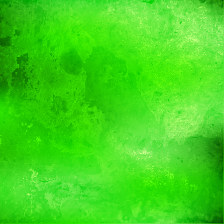 Abstract green watercolor background with divorce. Vector illustration. Colorful watercolor background.