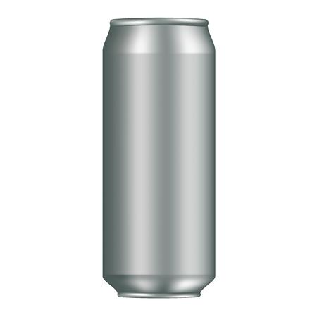 unprinted: Aluminum can mockup for your design. ideal for cola, soft drinks, soda, fizzy pop, alcohol, lemonade, energy drink, beer juice water etc Illustration